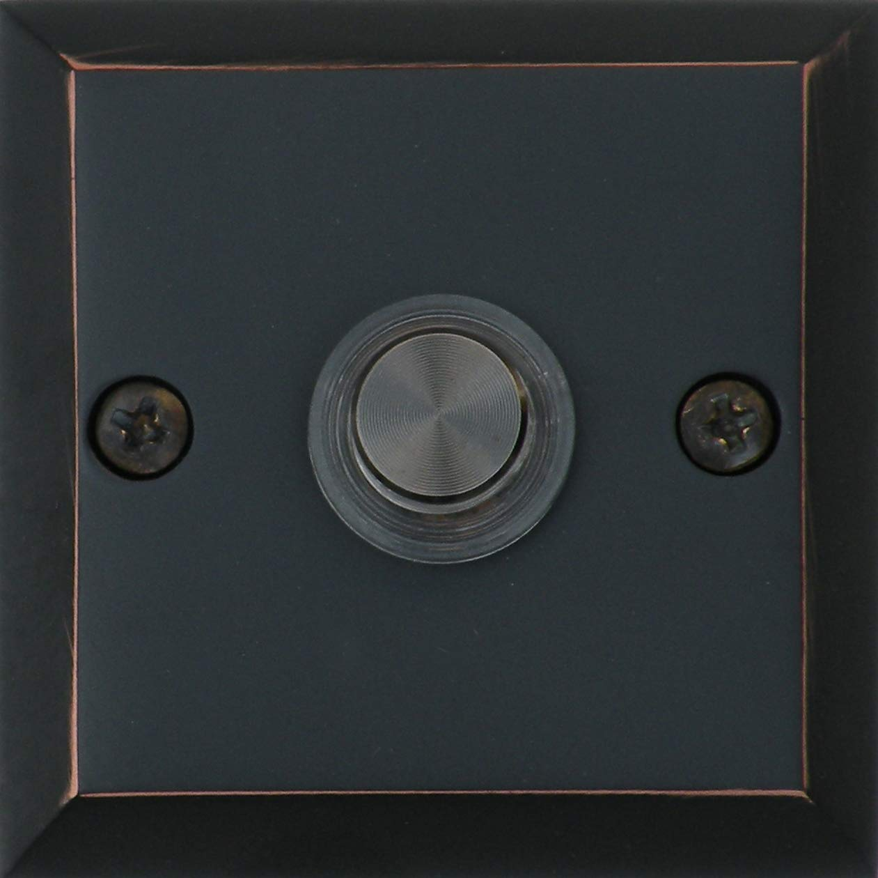 Knoxx Hardware BBP3LBXORB Oil Rubbed Bronze 2.5'' Lighted Metro Square Door Bell Button, 1-Pack