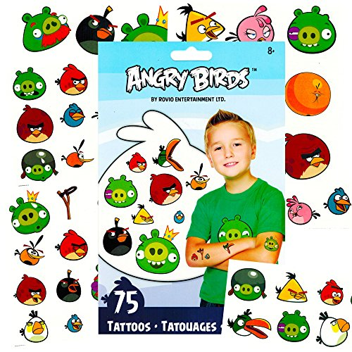 Angry Birds Temporary Tattoos Party