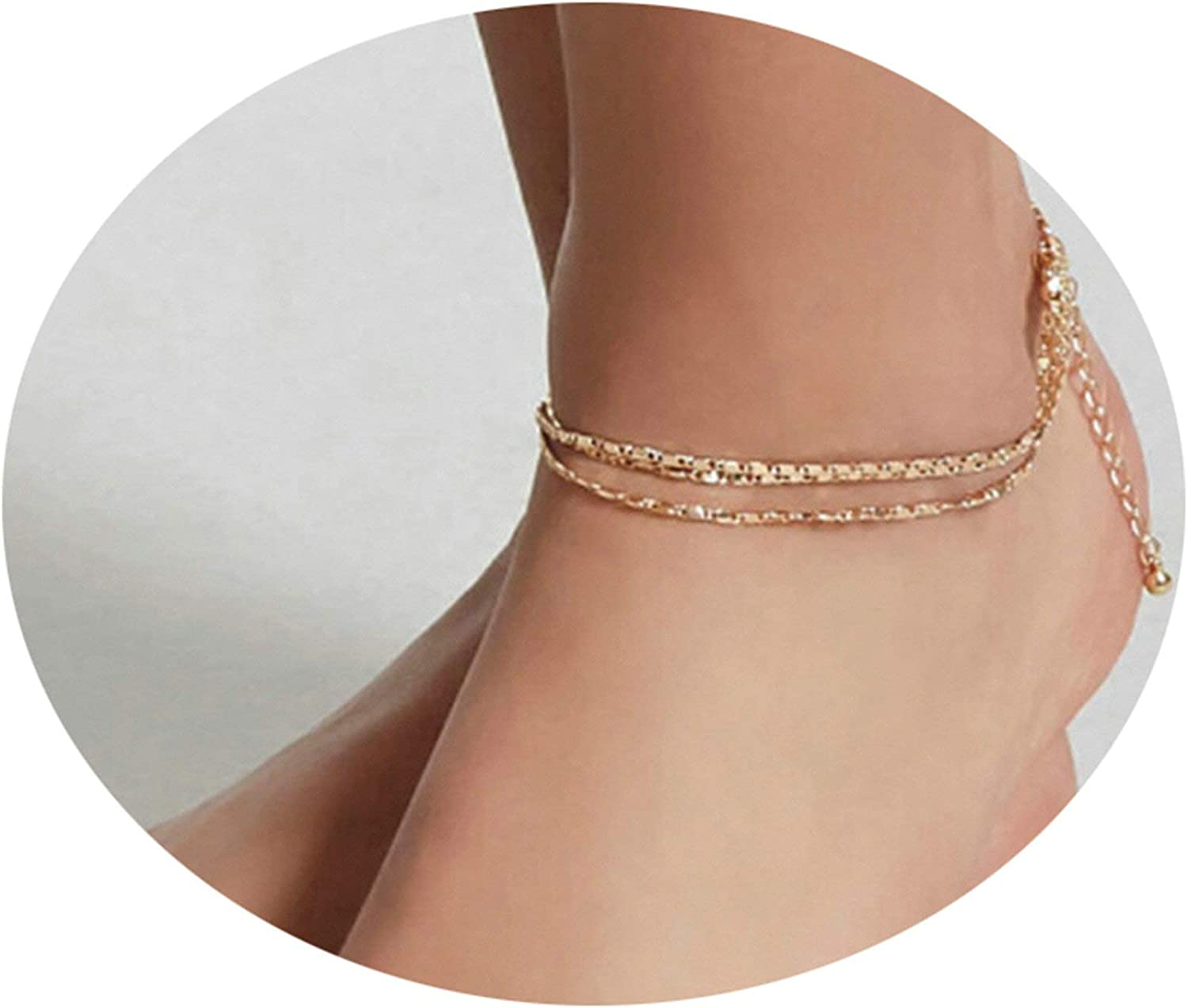 KnSam Ankle Chain Anklets Barefoot Sandals Accessories Gold Alloy Shells Anklets Vintage