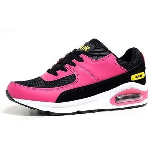 Mujer Zapatillas Para Correr Air Tech Amortiguador Gimnasio Ejercicio Zapatillas Deportivas Talla 4 - 8: Amazon.es: Zapatos y complementos