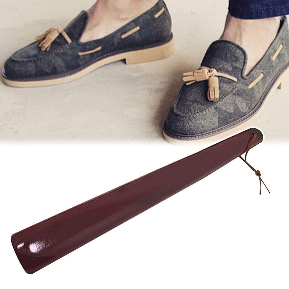 healifty MANCHE Long chausse-pied chaussure en bois /él/évateur outil Durable pour femmes hommes Rouge vin