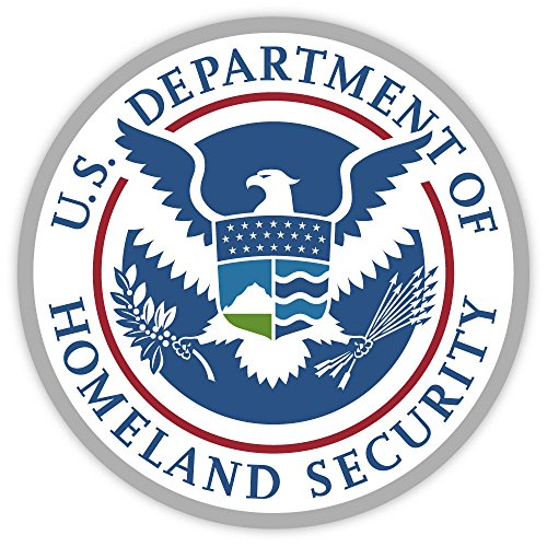"U.S. Department of Homeland Security USA sticker decal 4"" X 4"""
