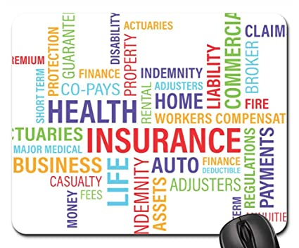 Amazon com : Mouse Pads - Blog Word Cloud Wordle Graphic Insurance