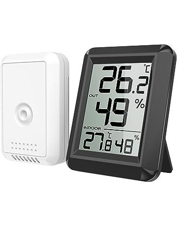ORIA Digital Termómetro Higrómetro Interiores y Exteriors, Medidor de Humedad Temperatura con Sensor Exterior,