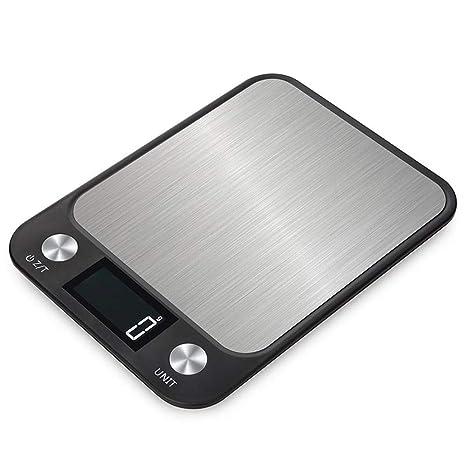 Cucsaist Báscula Digital De Cocina Balanza Electrónica De Cocina Ultrafina De Acero Inoxidable 5Kg / 1G