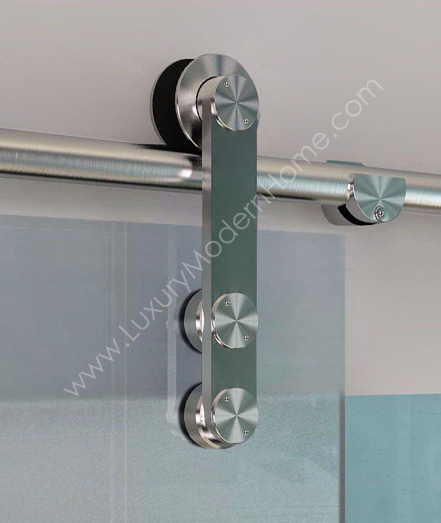 BERLIN - 2.5M - DOUBLE Sliding Glass Door Hardware (100'' opening - Max 2 - 50'' doors) by LuxuryModernHome.com (Image #3)