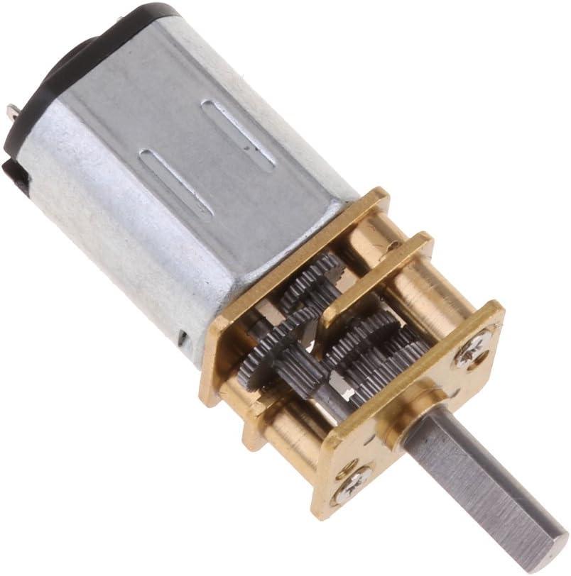 78 tours RPM N20 Avec Arbre De Transmission FLAMEER Mini Moteur /à Engrenages DC 12V 78//100//148//200//300//600//3000