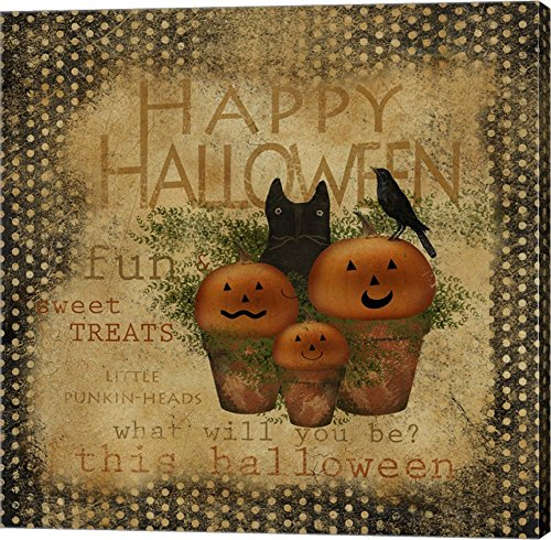 Happy Halloween by Beth Albert Canvas Art Wall Picture, Gallery Wrap, 24 x 24 inches