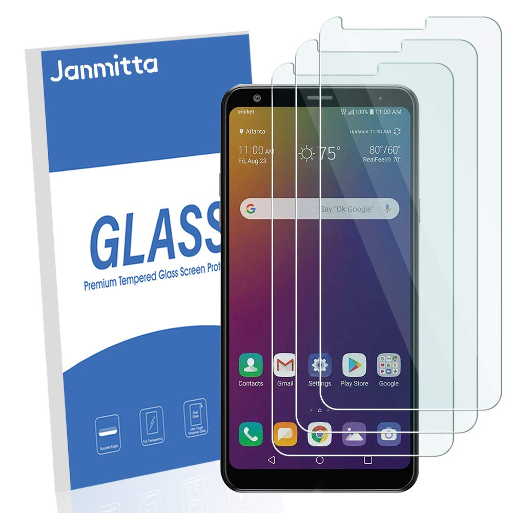 [3 Pack] Janmitta Compatible LG stylo 5 Screen Protector, [Scratch Resistant][Anti-Fingerprint][No-Bubble] 2.5D Tempered Glass for LG stylo 5