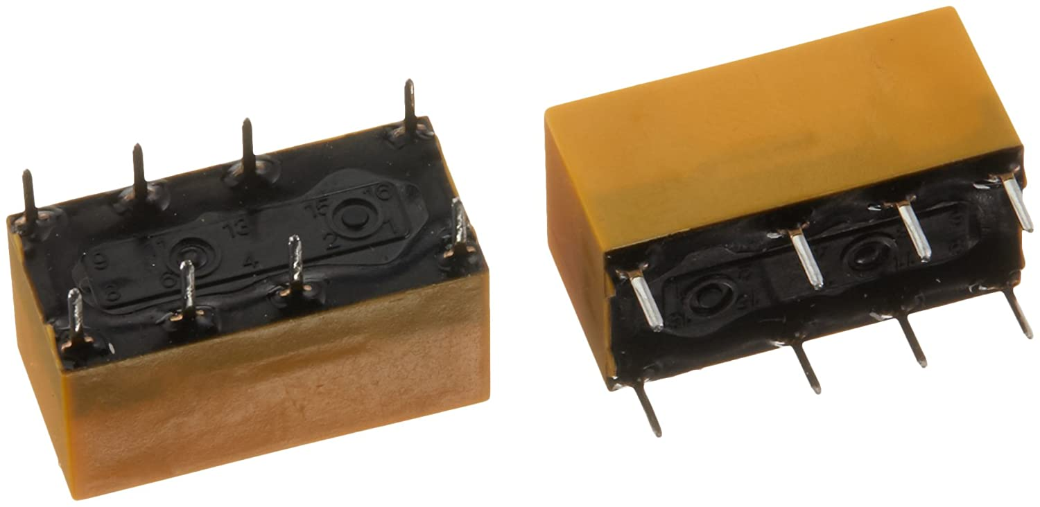 Panasonic DS2Y-S-DC5V Electromechanical Relay Pack of 2 125 Ohm 5 Volt Double Throw Double Pole 2A