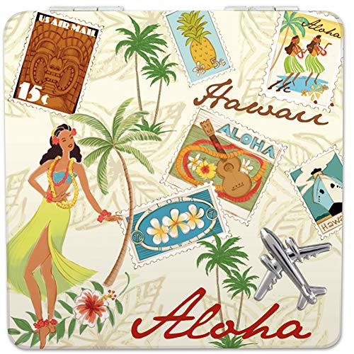 Welcome to the Islands Hawaii Compact Mirror Stamped with -