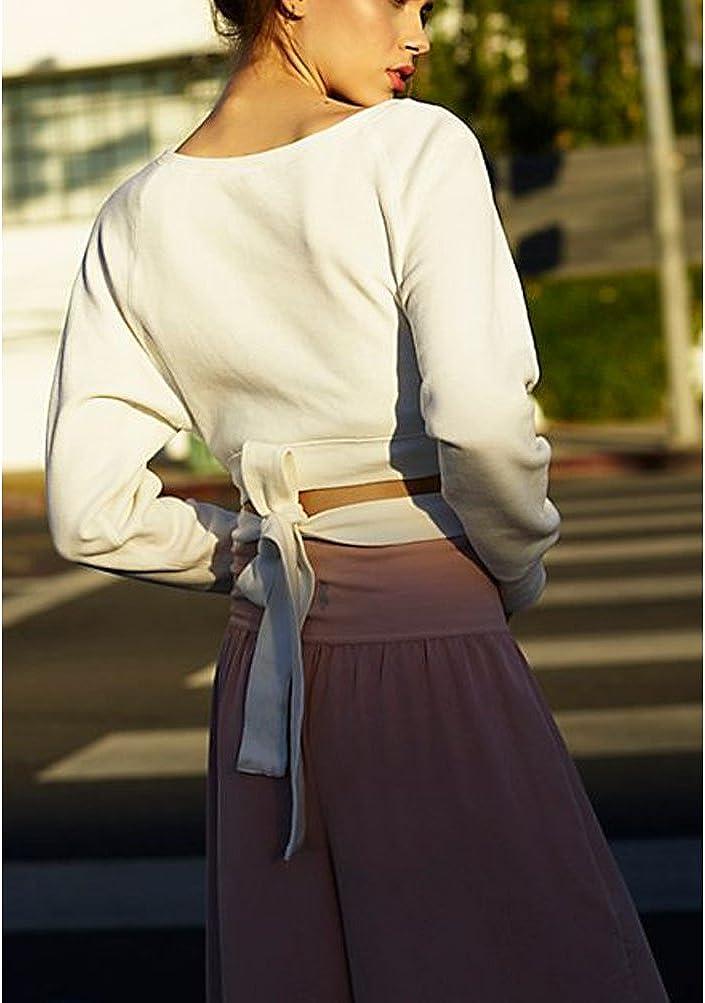 Germinate Cropped Felpe con Cappuccio Donna Tumblr Lunghe Invernali Sportive Elegante Felpa
