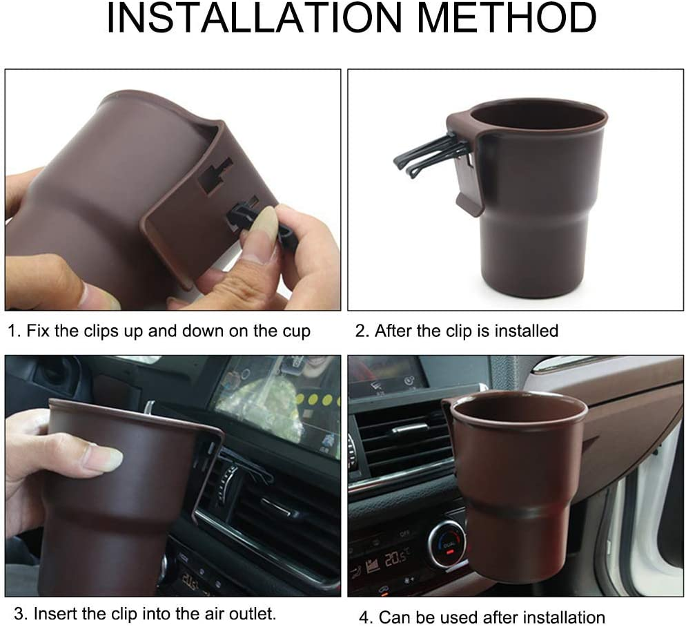 znwiem Car Water Cup Holder Mobile Phone Drink Mount Trash Can Air Outlet Chair Back Door Side Grab Box Black