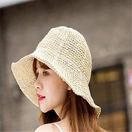 3ef08205efb RangYR Women Hat Summer Fall Straw Hat Holiday Sun Protection Sun Hat Wide-Brimmed  Hat