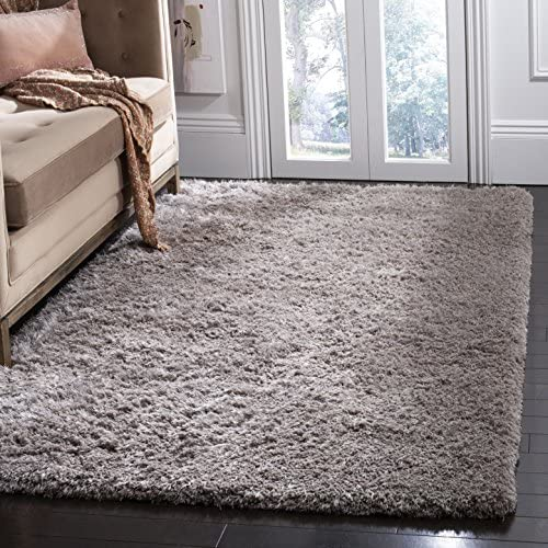 Safavieh Toronto Shag Collection SGT501F Handmade Solid 1.25-inch Thick Area Rug - a good cheap living room rug