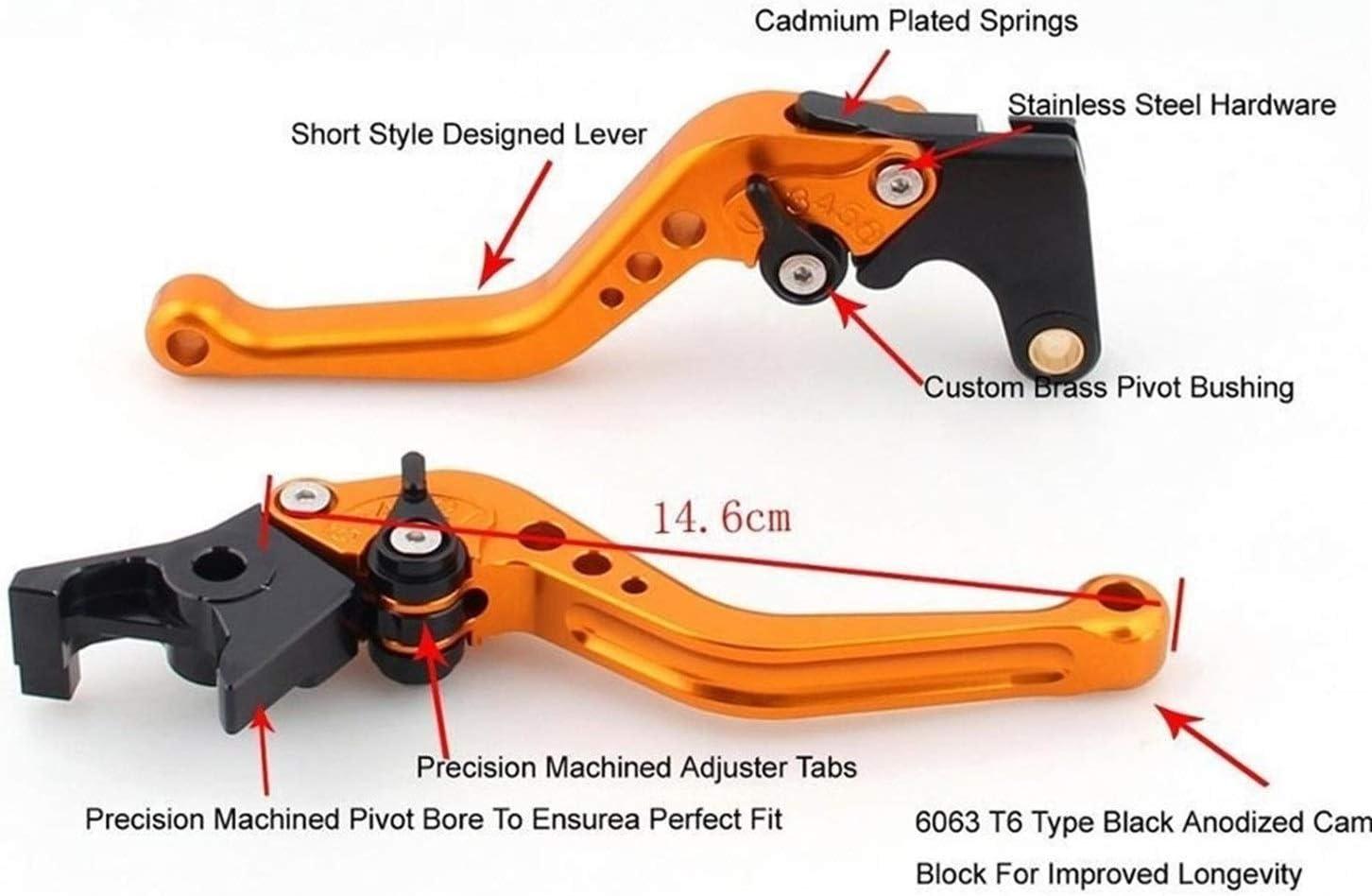 for Suzuki GSXR600 GSXR750 2004-2005 GSXR 600 750 K4 Leva frizione freno regolabile Moto regolabili a controllo numerico del freno leve di frizione Color : Long Black