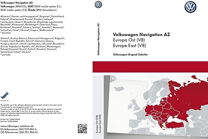 Vw Rns 315 Navi Update Sd Karte V8 Osteuropa Navigation