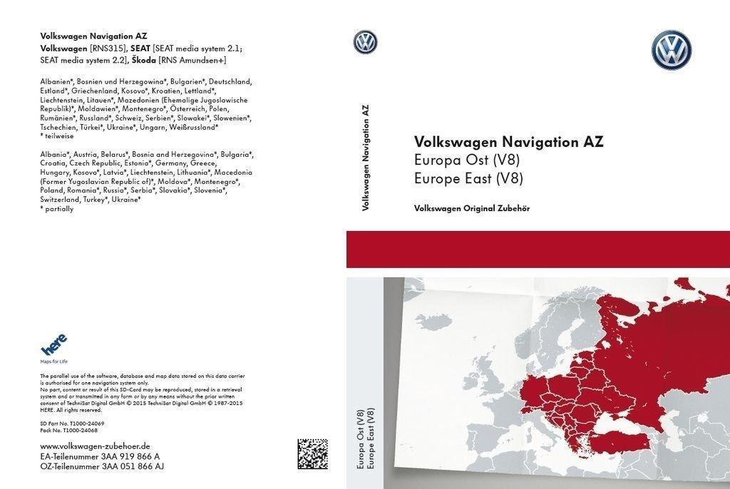 Vw Sd Karte.Vw Sd Karte Osteuropa Für Rns 315 Version V8 3aa051866aj Amazon