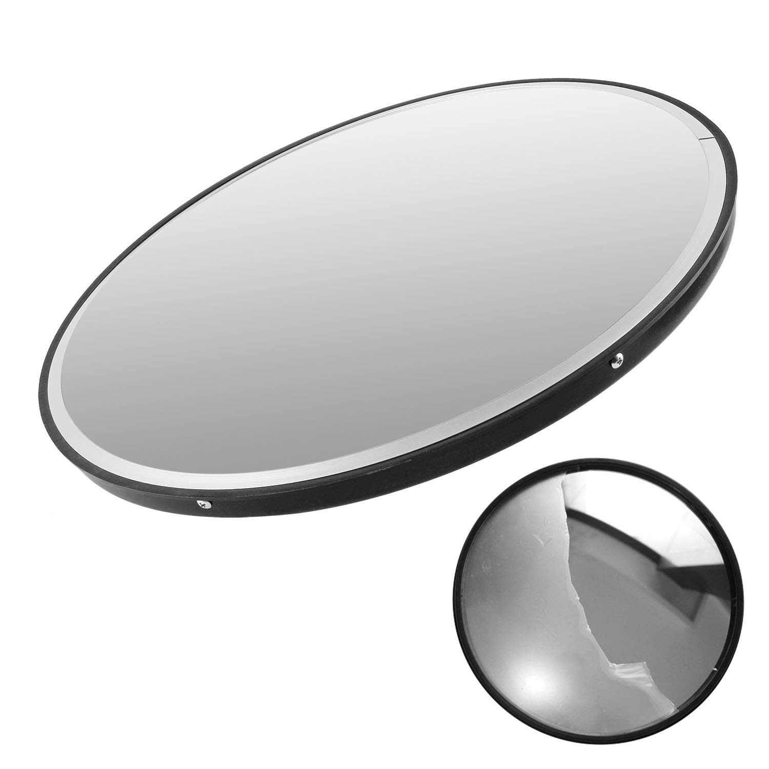 Convex Mirrors for Outdoor Use Black 30cm Surveillance Mirrors Safety Mirrors Premium Traffic Mirrors Weatherproof Panoramic Mirrors for Blind Spots
