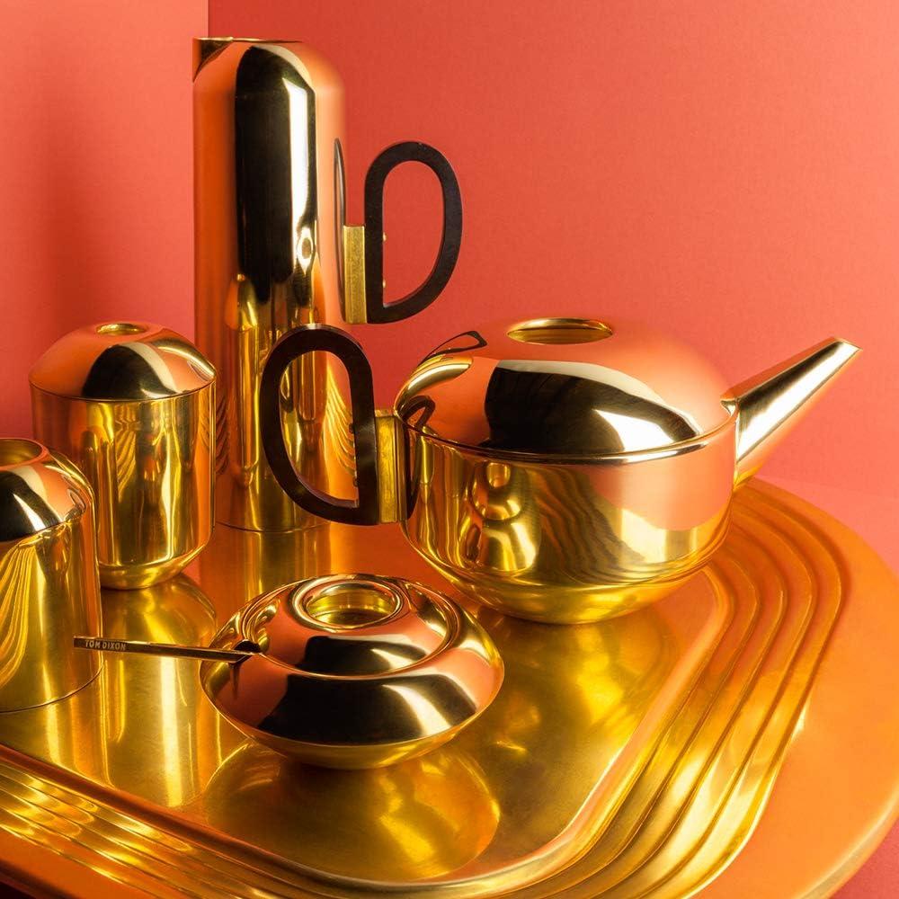 Luxury Matt Surface Milk Pot Jug Tom Dixon Form Milk Jug Hand Spun Polished Brass with Gold Finish 200ml Capacity Brass Ideal for Tea Set or Milk Frothing