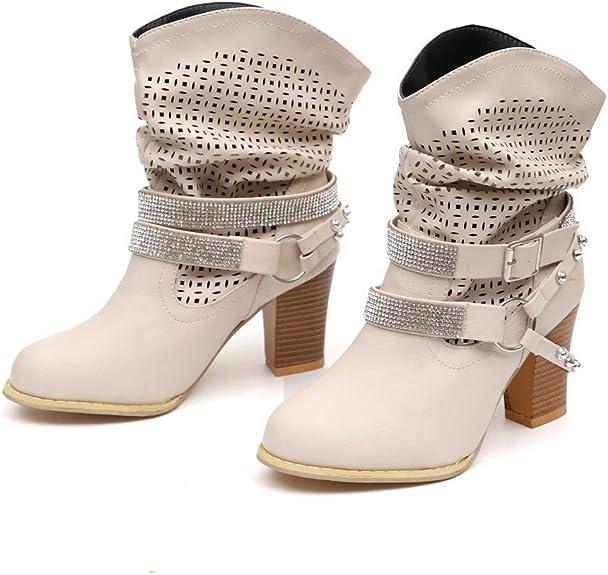 ZARLLE/_Botas ZARLLE Moda Botas para Mujer Oto/ñO Invierno Calzado De Dama Terciopelo Botines Planos Bajos Zapatos con Borlas Negras Talla Grande Botas Cl/áSicas Informales Biker Se/ñOra