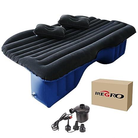 Colchon Coche iRegro Extra Grueso inflable Camping asiento trasero extendido de colchón con 2 almohadas para