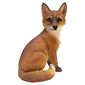 Amazoncom Design Toscano Woodie the Woodland Fox Garden Statue