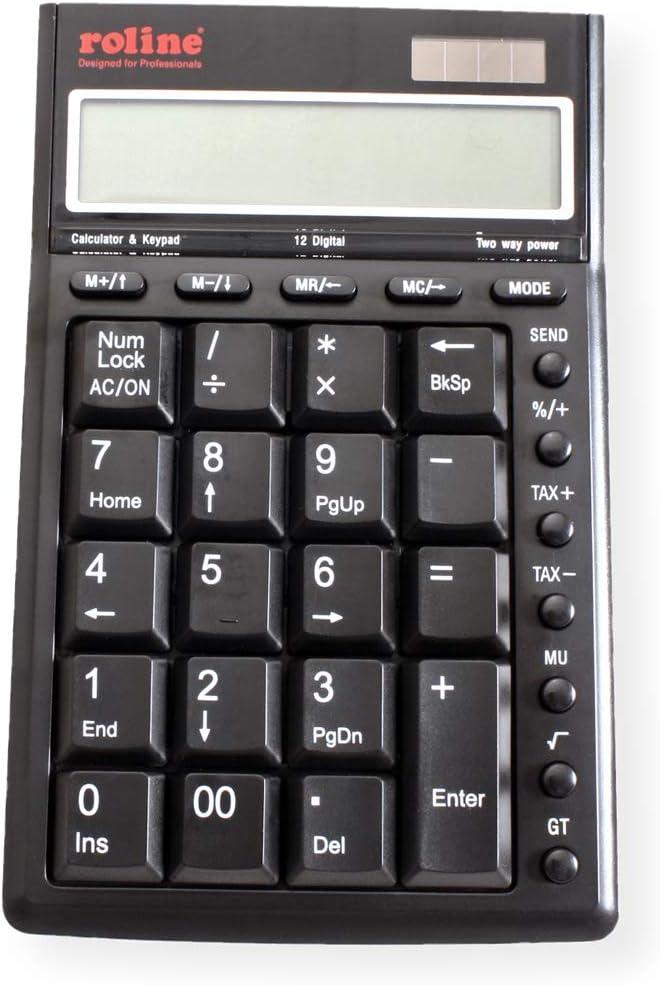 ROLINE Calcolatrice//tastierino numerico 2/x USB3.0/hub