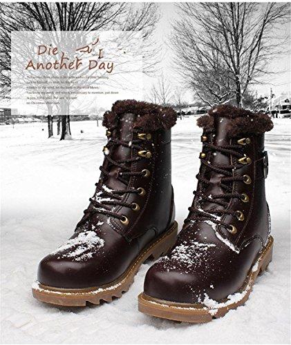 Pizzo Pelle Tempo Autunno XIE Stivali Scarpe Uomini Pi libero balestruccio Inverno Caviglia Tooling YxxPTwqz