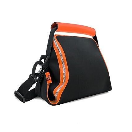 Rolleat - EatnOut Neo - Bolsa Tupper Impermeable | Bolsa Térmica porta Tupper convertible en Mantel con Cremallera, Color Naranja