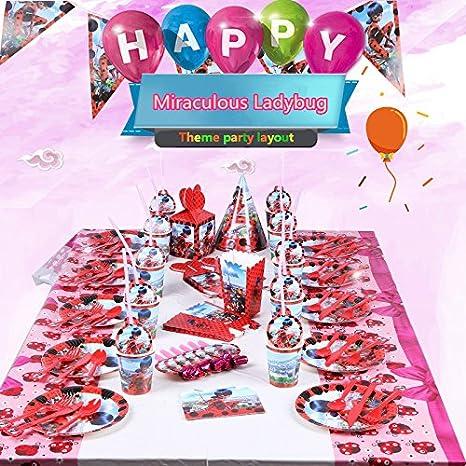 Amazon 122PCS 15SET Miraculous Ladybug Birthday Party Suit