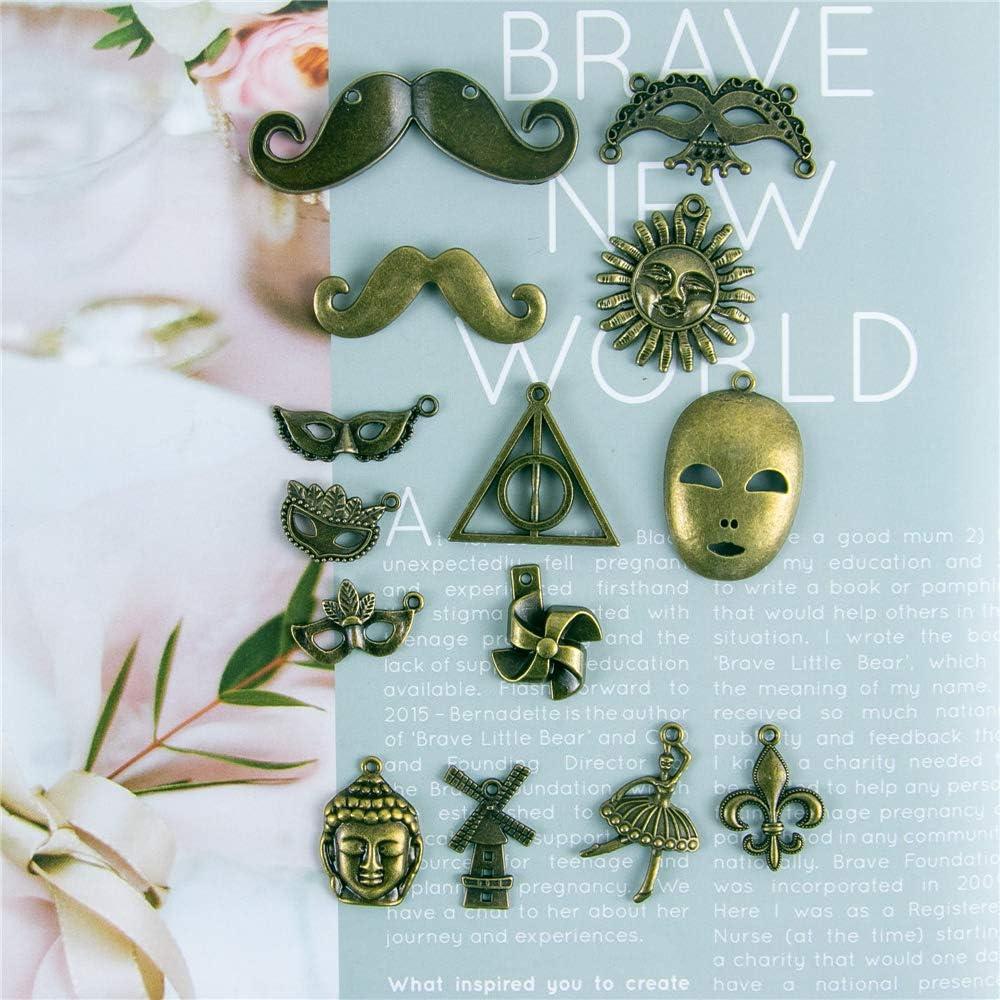 Jarvials Accessoires De Bijoux Breloques pour Bijoux /Él/égant Bracelet M/étal Multi-Style Antique DIY Mixte Bricolage Collier Pendentif