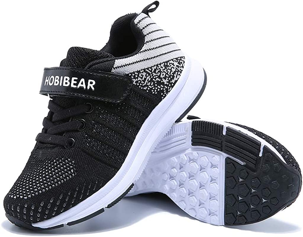 VICROAD Kids Walking Running Shoes Breathable Casual Trainers Lightweight Athletic Sneakers