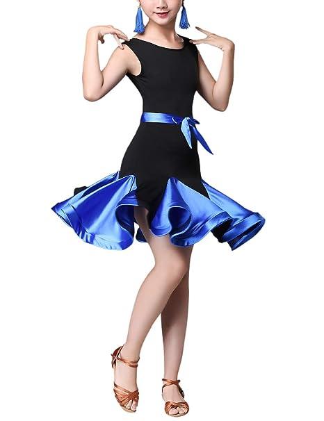 SPDYCESS Clásico Vestido de Danza Latino Ropa de Baile - Trajes de Carnaval Vestito de Baile Leotardo Princesa Falda Dancewear Tango Salsa Rumba ...