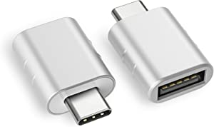 Syntech USB C to USB Adapter (2 Pack), Thunderbolt 3 to USB 3.0 Adapter Compatible with MacBook Pro 2019 and Before, MacBook Air 2019/2018, Dell XPS and More Type C Devices, Silver