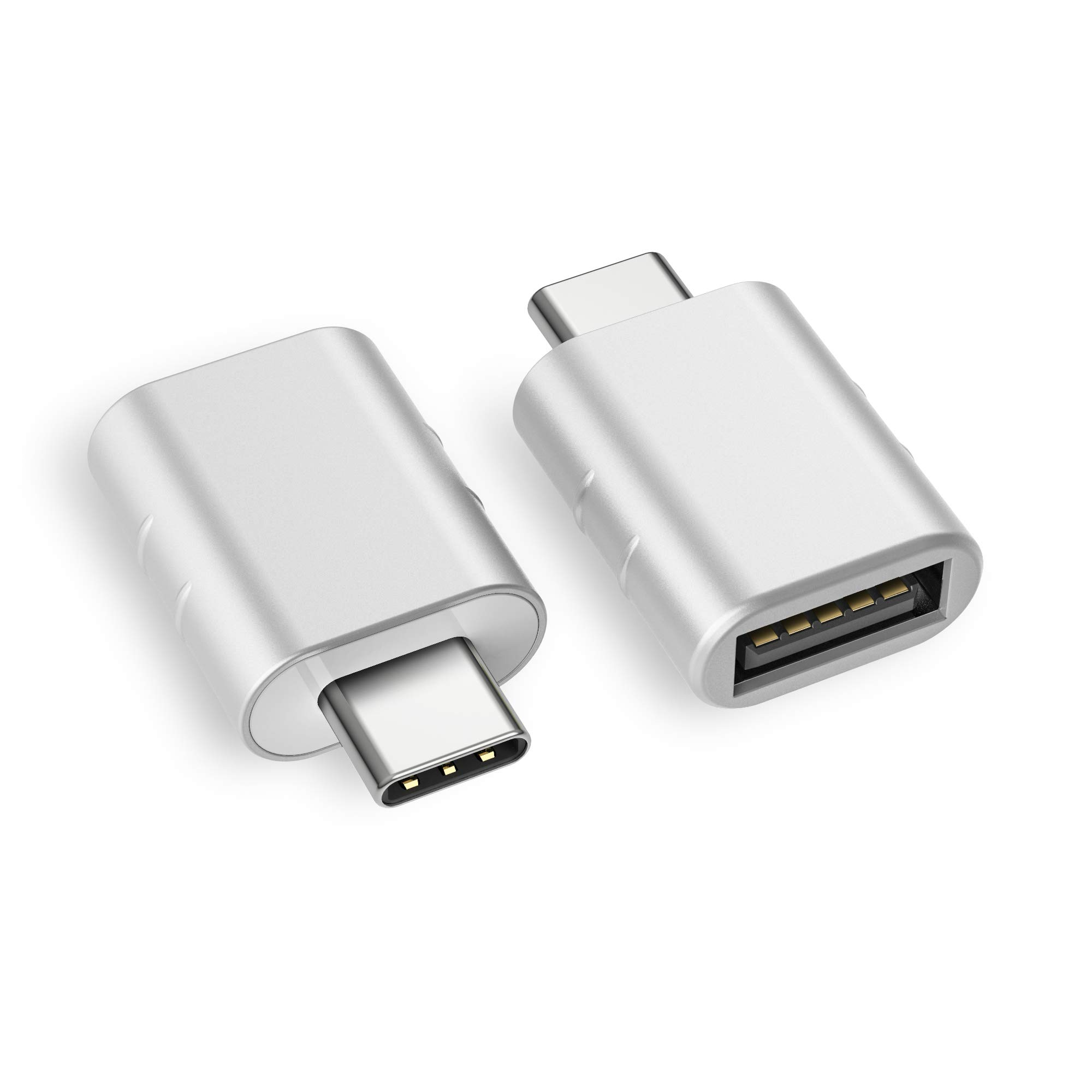 Syntech USB C to USB Adapter (2 Pack), Thunderbolt 3 to USB 3.0 Adapter Compatible with MacBook Pro 2019 and Before, MacBook Air 2019/2018, Dell XPS and More Type C Devices, Silver by Syntech