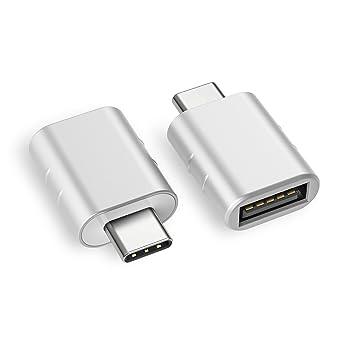 Amazon.com: Adaptador USB C a USB, Plateado: Computers ...