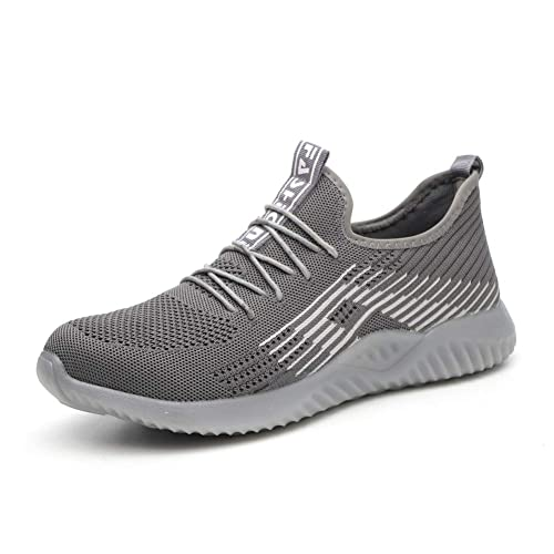 JIANYE Herren Sicherheitsschuhe S3 Damen Arbeitsschuhe Stahlkappe Atmungsaktiv Leicht Berufsschuhe Sneaker Unisex