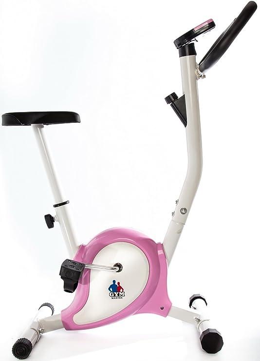 Gym Master 2016 bicicleta estática Fitness Cardio en rosa: Amazon ...