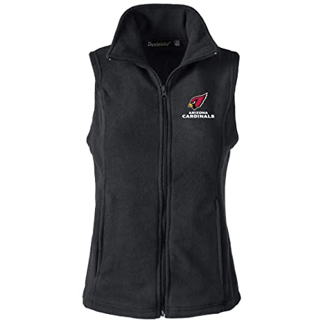 29df21b3 NFL Arizona Cardinals Womens Houston Ladies Fleece Vest, Black, Medium