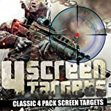 4 x Screen Targets *CLASSIC PACK* Contains: Hawk, Sidewinder, Snow Wolf and Cobra