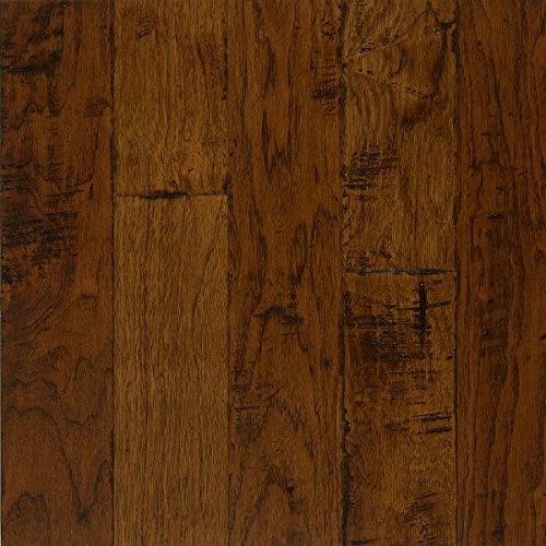 Bruce Hardwood Floors EEL5203A Frontier Hand-Scraped Wide Plank Engineered Hardwood Flooring, Brushed Light Mocha - Mocha Hardwood Flooring