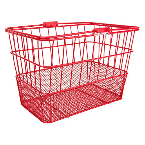 Sunlite Standard Mesh Bottom Lift-Off Basket w/ Bracket, Red (Basket Shop)