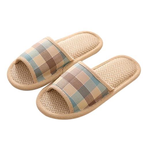 TELLW Sommer Frühling Herbst Winter Leder Hausschuhe Pantoffeln Keine Schäden Boden Stumm xAO0zjrohJ