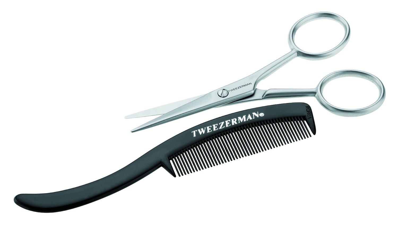 Tweezerman Moustache Scissors and Comb 1 Count 72031-MG