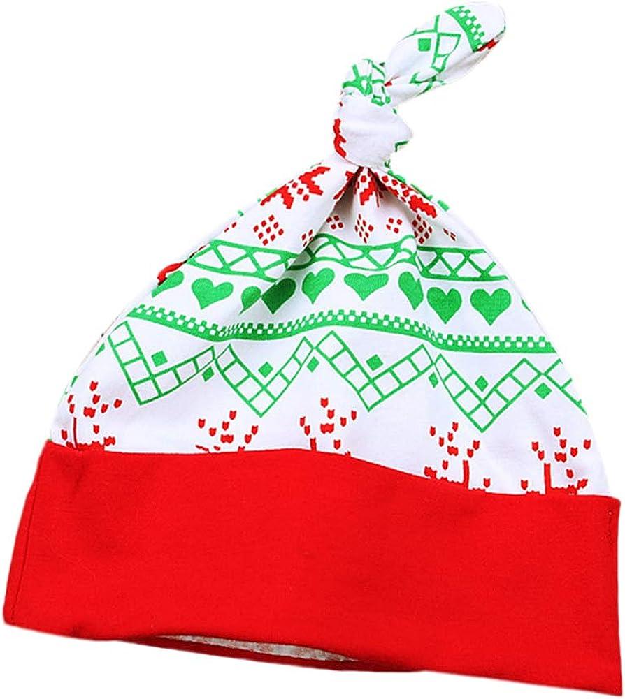 Weihnachten Outfit Kleinkinder M/ädchen Jungen Weihnachtsmann Bodysuit Langarm Strampler Spielanzug Streifen Hose Hut 3 St/ück Bekleidungsset Festliche FYMNSI Baby Mein Erstes 1