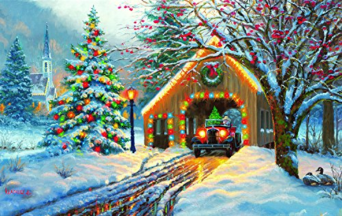 Chirstmas Crossing 550 Piece Jigsaw Puzzle by SunsOut