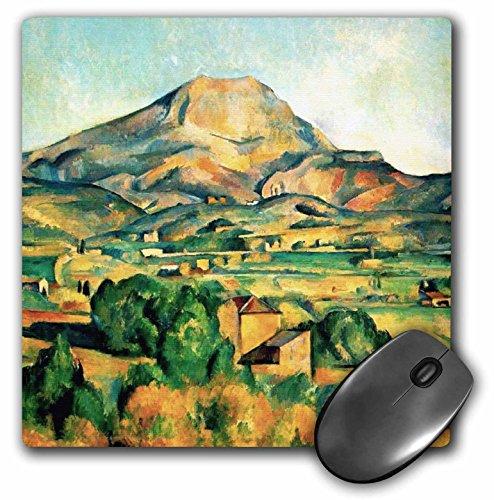 "Price comparison product image 3D Rose ""Mont Saintevictoire By Paul Cezanne 1895Famous Fine Art Landscape Paintings By Classical Masters"" Matte Finish Mouse Pad - 8 x 8"" - mp_155642_1"