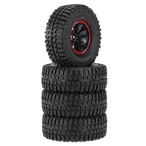 MagiDeal 4pcs Inflables Ruedas Neumáticos para RC 01:10 Escalada Piezas de Automóviles Rastreador 1.9