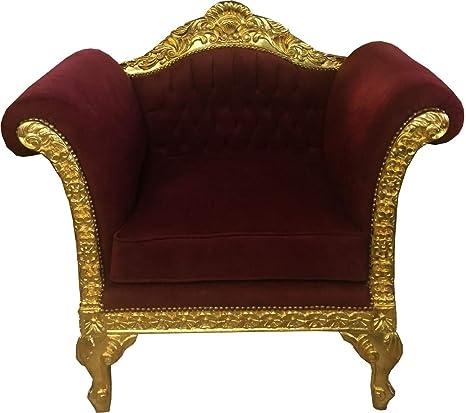 Casa Padrino Baroque Lounge Sillón Burdeos/Muebles de Oro ...